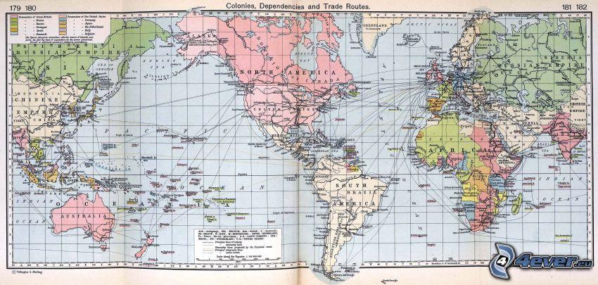världskarta, Amerika