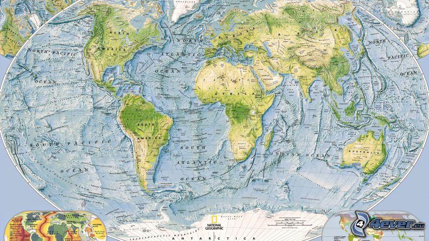 världskarta, atlas