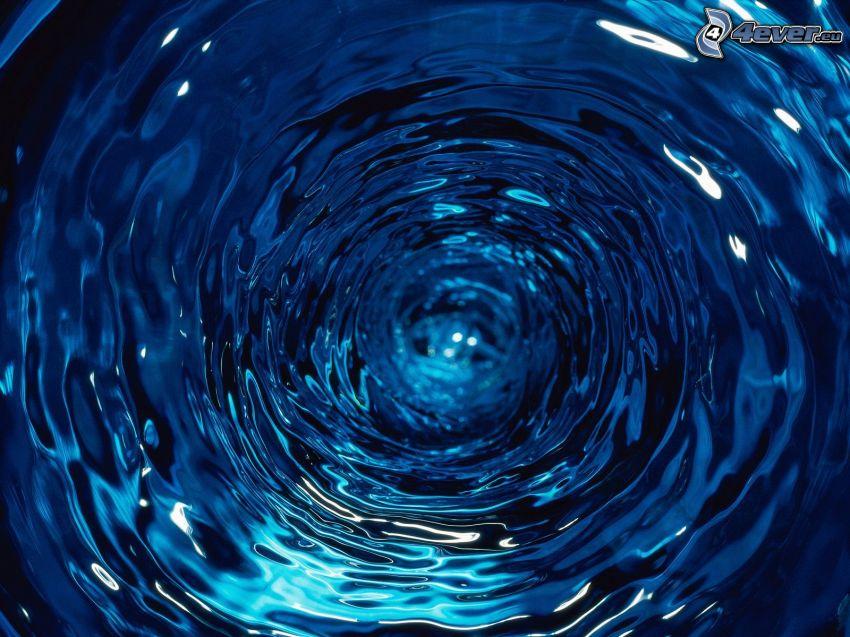 vatten, tunnel