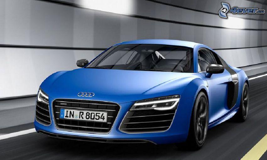 Audi R8, tunnel
