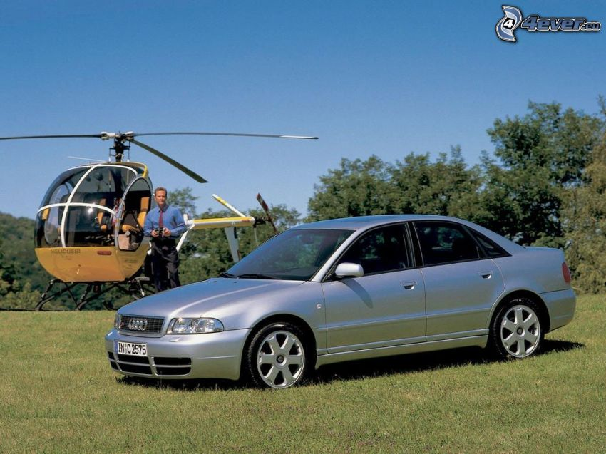 Audi S4, 1998, person helikopter