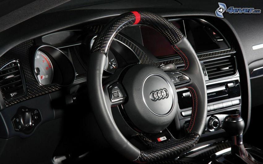 Audi S5, interiör, ratt