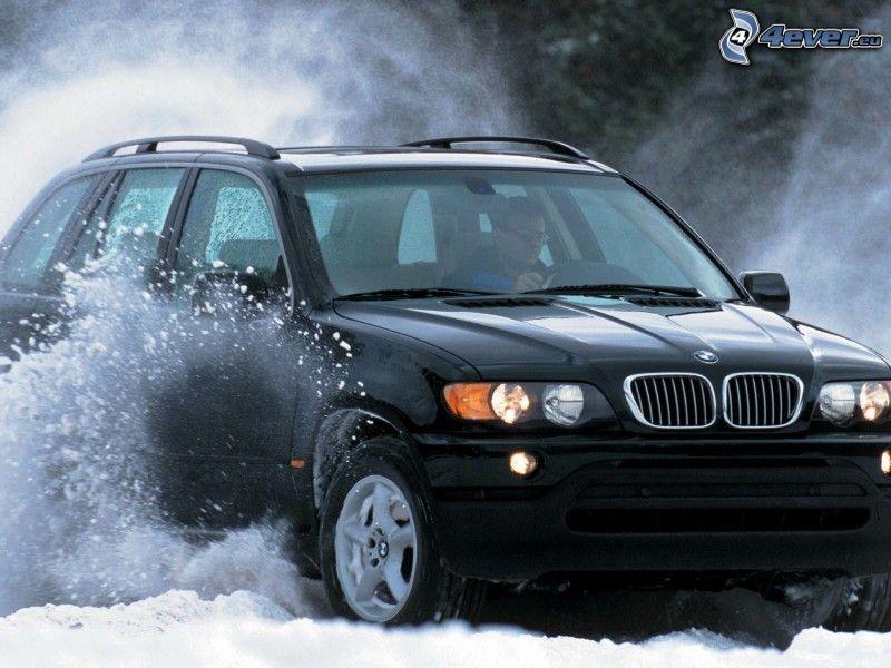 BMW X5, snö