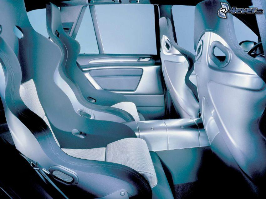 BMW X5 Le Mans, interiör, säten