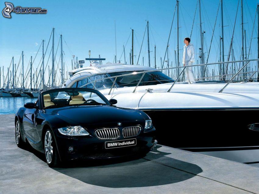 BMW Z4, yacht, fartyg