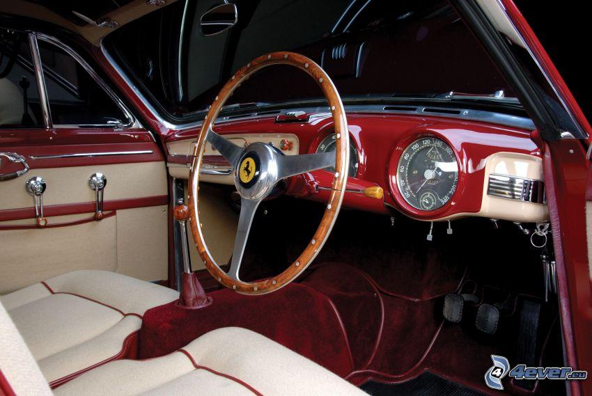 Ferrari, interiör, ratt
