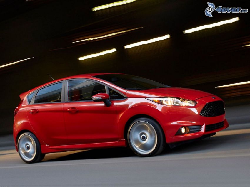 Ford Fiesta RS, fart, tunnel