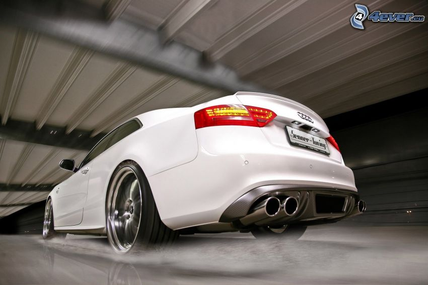 Audi S5, fart, avgasrör