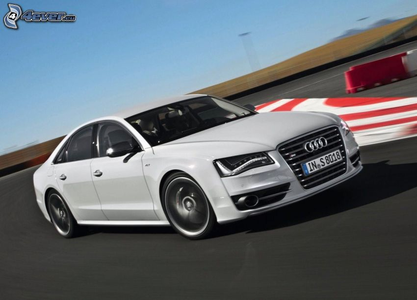 Audi S8, fart, racerbana