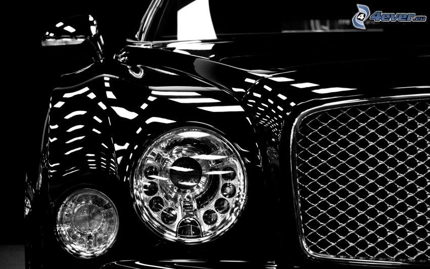 Bentley, strålkastare, frontgaller