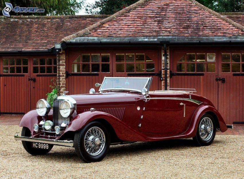 Bentley, veteran, cabriolet, garage