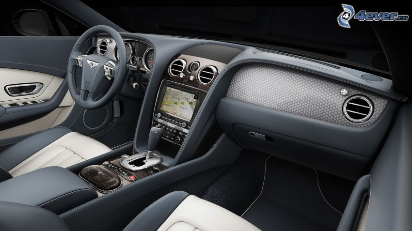 Bentley Continental, interiör, ratt, instrumentbräda