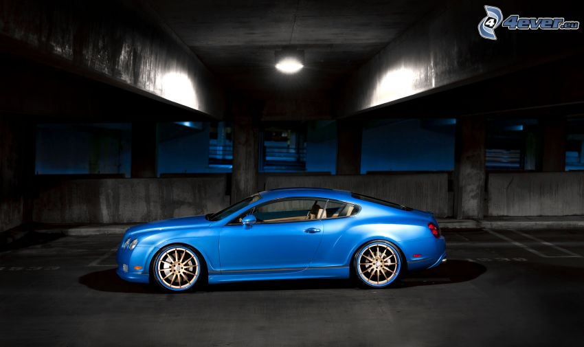 Bentley Continental GT, under bro