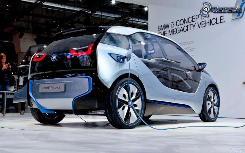 BMW i3, laddning, bilutställning, utställning