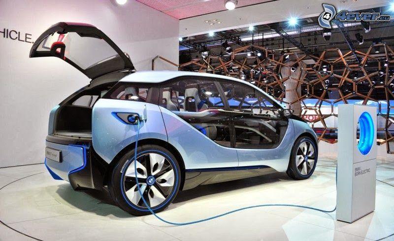 BMW i3, laddning, utställning, bilutställning