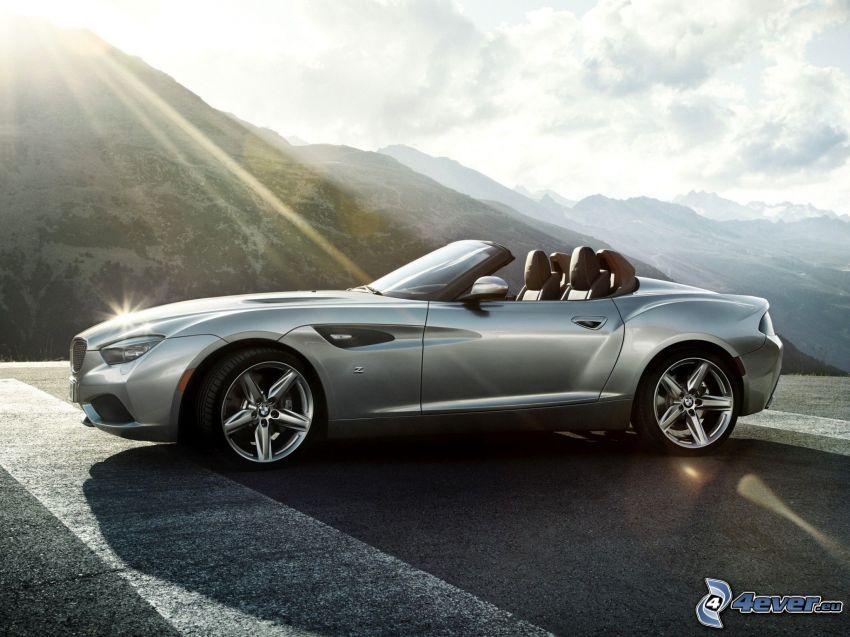 BMW Zagato, cabriolet, solstrålar