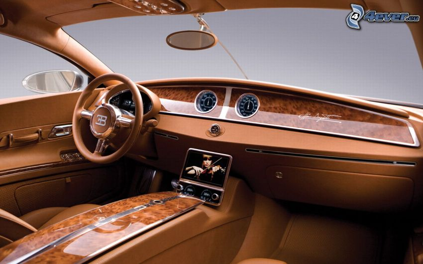 Bugatti 16C Galibier, interiör, ratt, instrumentbräda