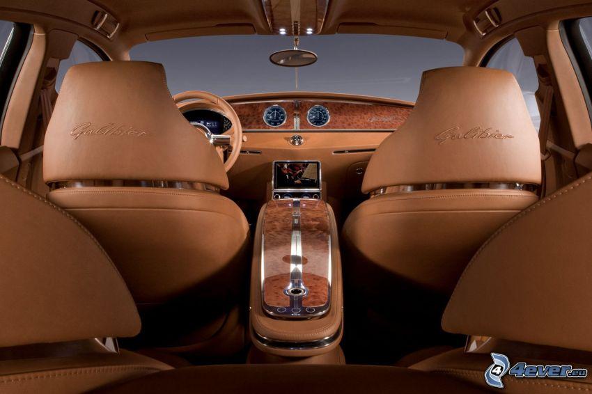 Bugatti 16C Galibier, interiör