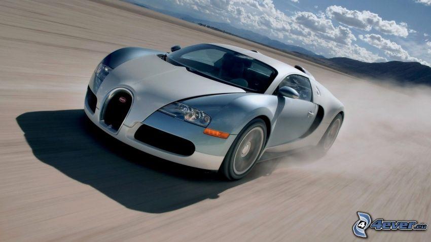 Bugatti Veyron, fart, damm