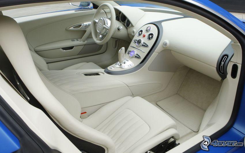 Bugatti Veyron, interiör