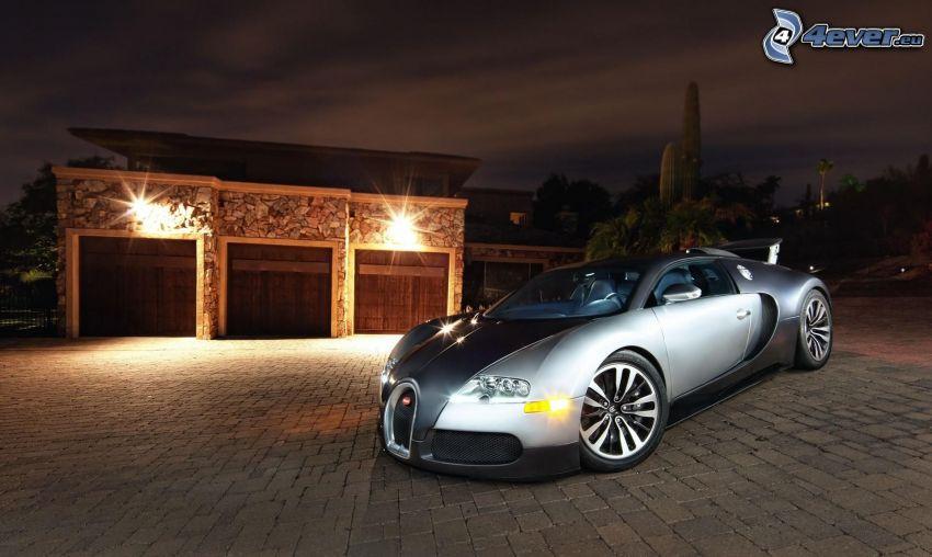 Bugatti Veyron, natt, belysning, beläggning