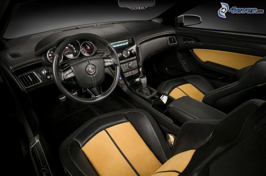 Cadillac CTS, interiör, ratt, instrumentbräda