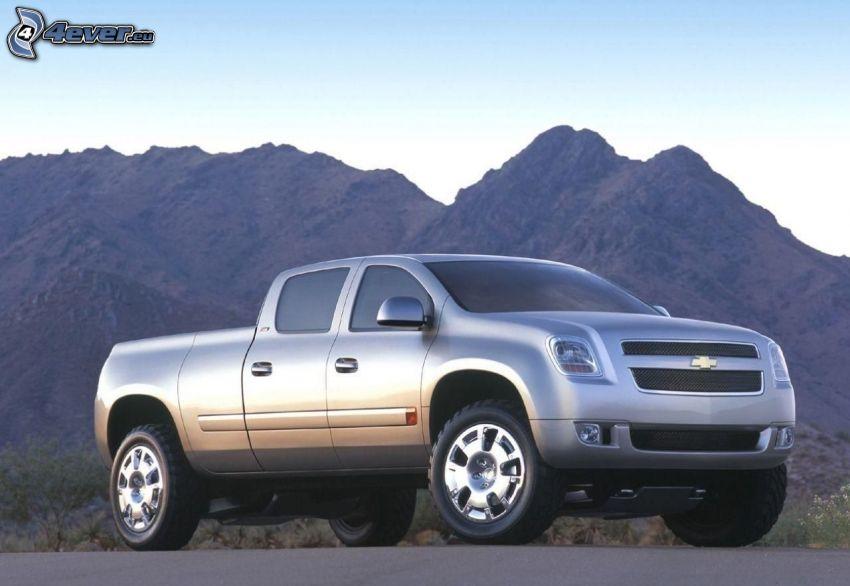 Chevrolet, pickup truck, berg