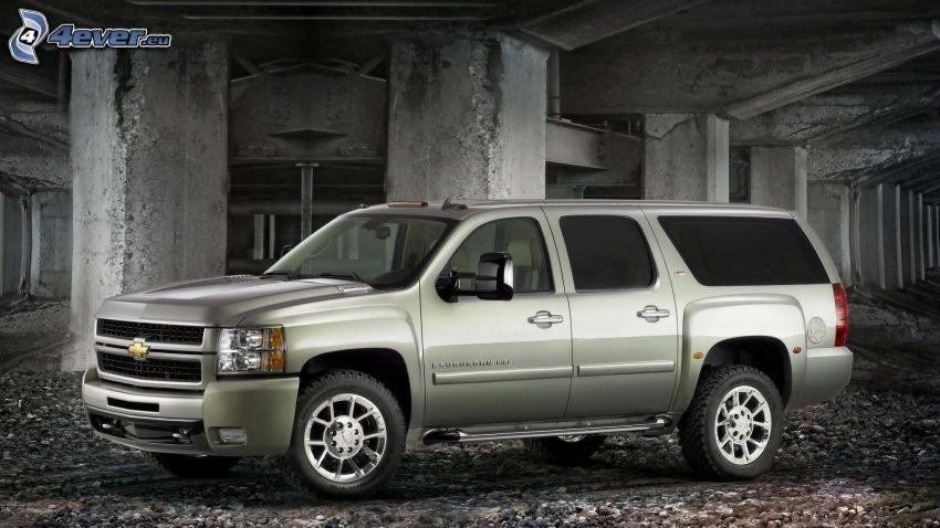 Chevrolet, SUV, kolumner, under bro