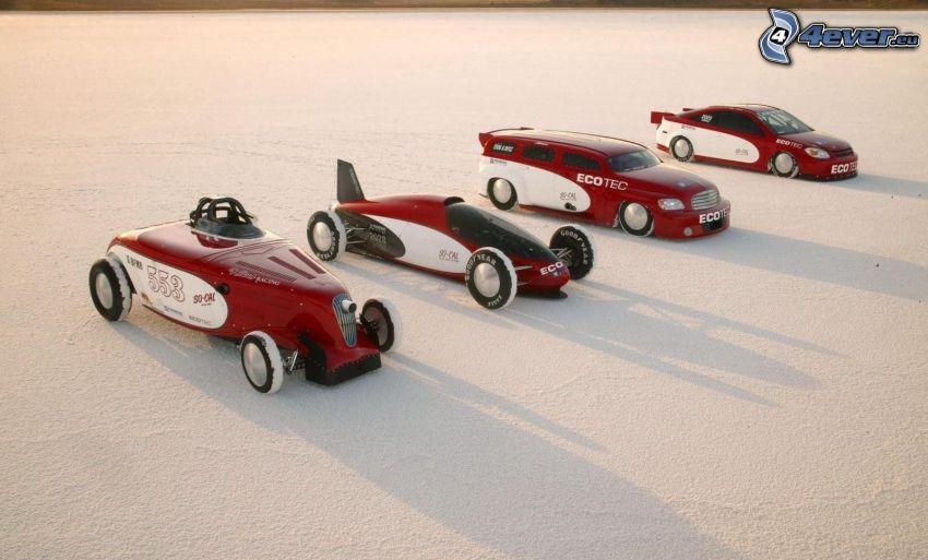 Chevrolet, veteraner, snö