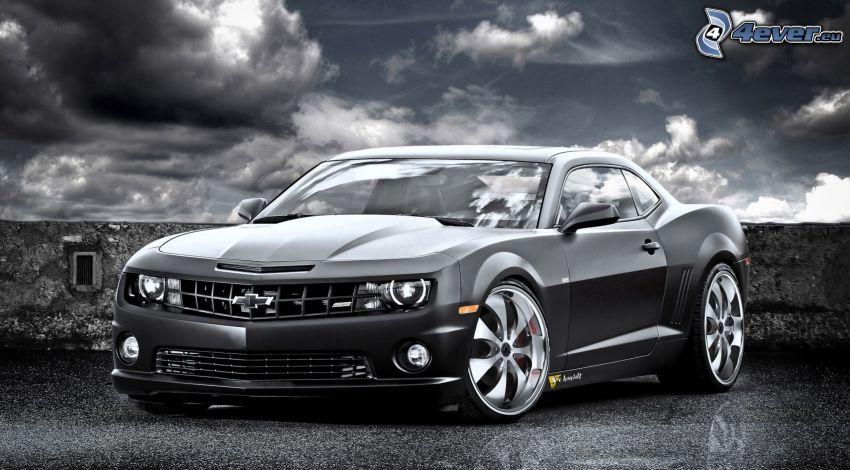 Chevrolet Camaro, moln, grå
