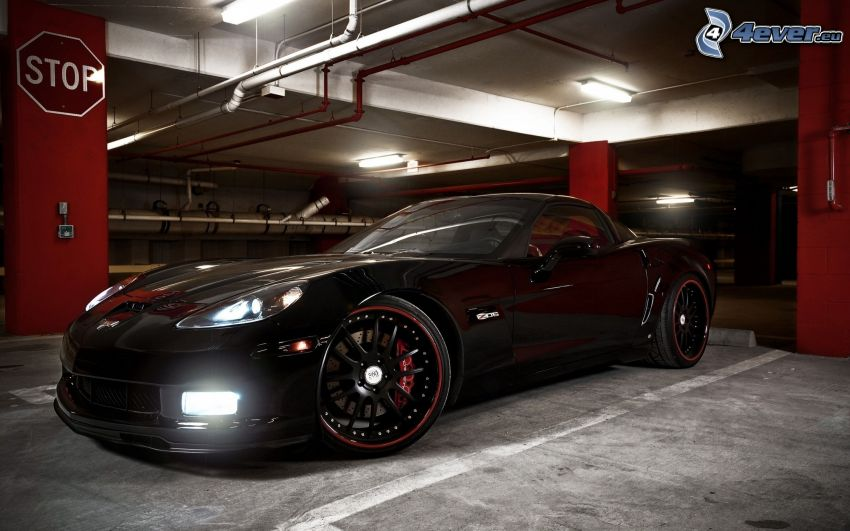 Chevrolet Corvette, ljus, garage