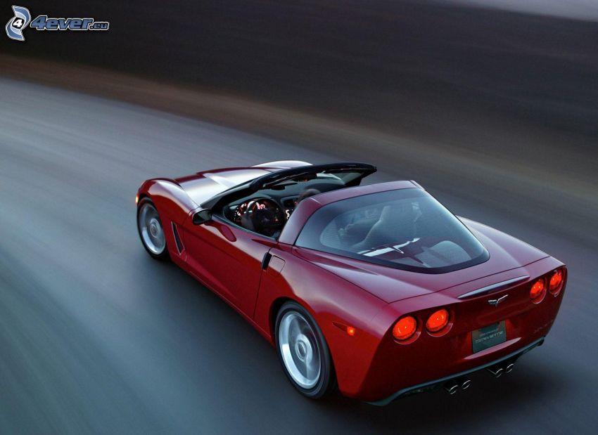Chevrolet Corvette C6, cabriolet, fart, väg