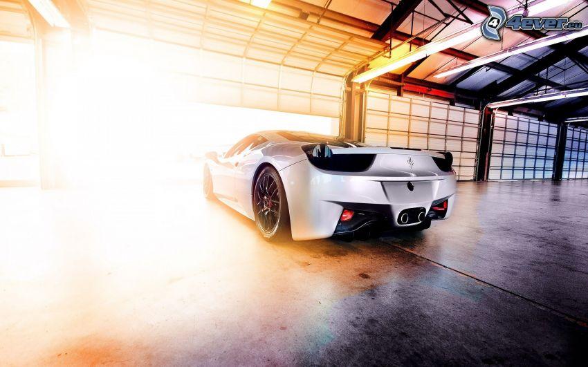 Ferrari, ljus, garage