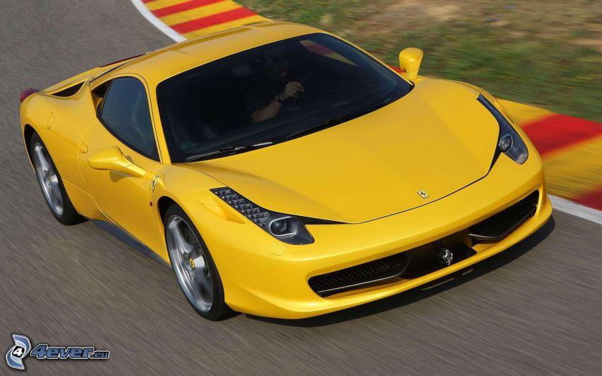 Ferrari 458 Italia, racerbana, fart