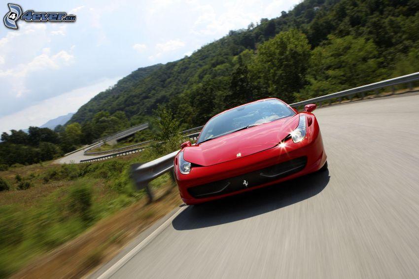 Ferrari 458 Italia, väg, fart