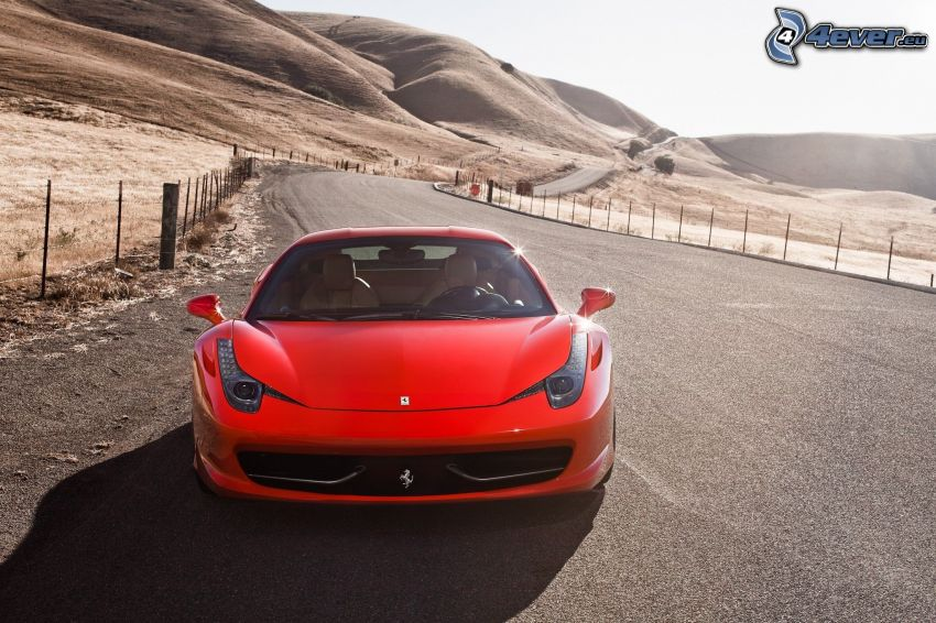 Ferrari 458 Italia, väg