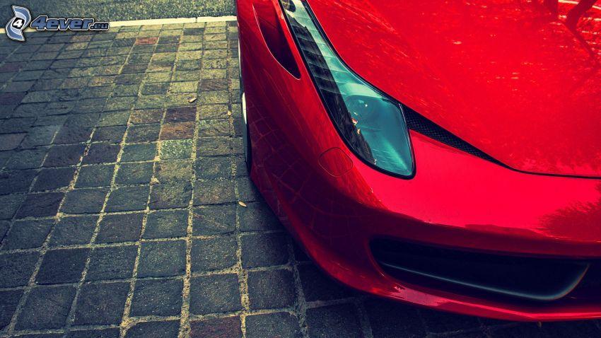 Ferrari 612 GTO, strålkastare, beläggning