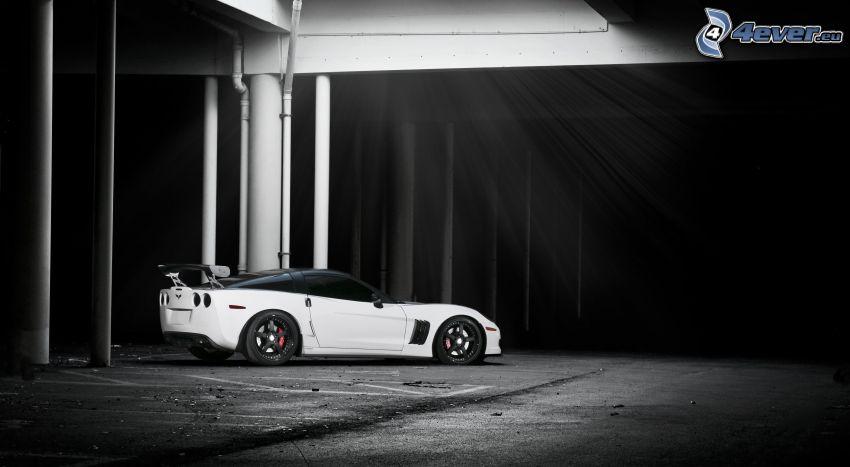 Ferrari 612 GTO, svartvitt foto