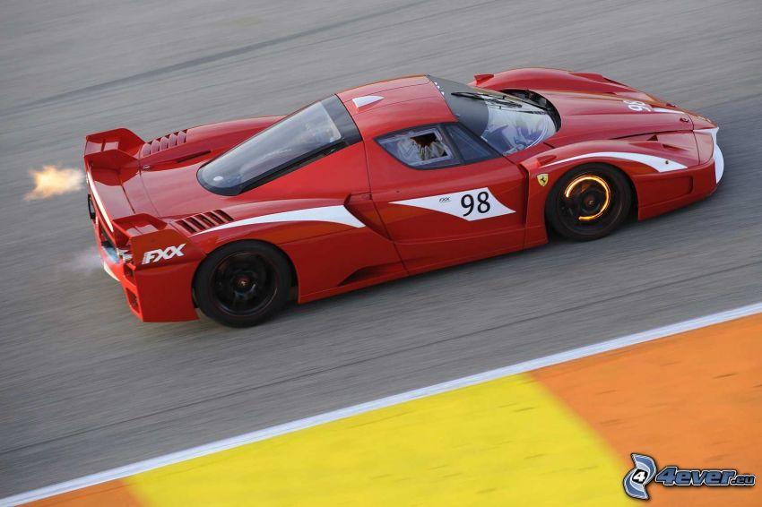 Ferrari FXX, fart, eld