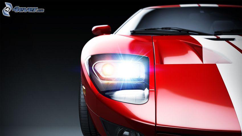 Ford GT, framljus
