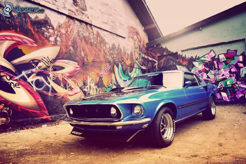 Ford Mustang, graffiti