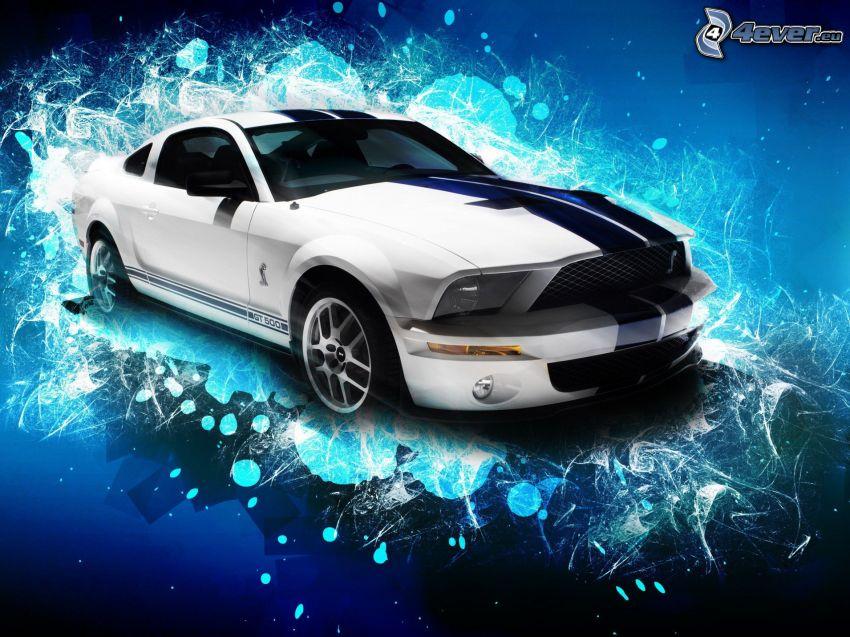 Ford Mustang Shelby Cobra, abstrakt