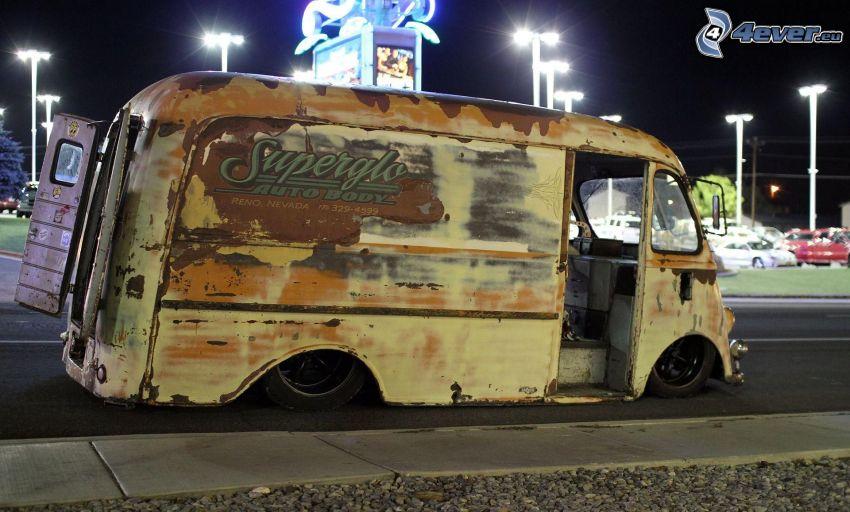 gammal bil, skåpbil, lowrider