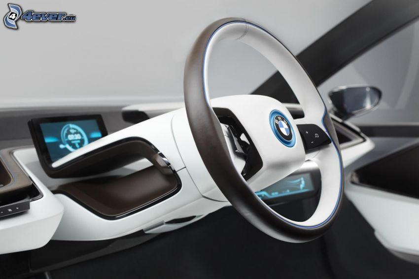 inredning av BMW i3, ratt