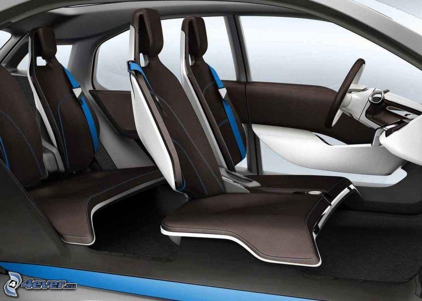 inredning av BMW i3, säten
