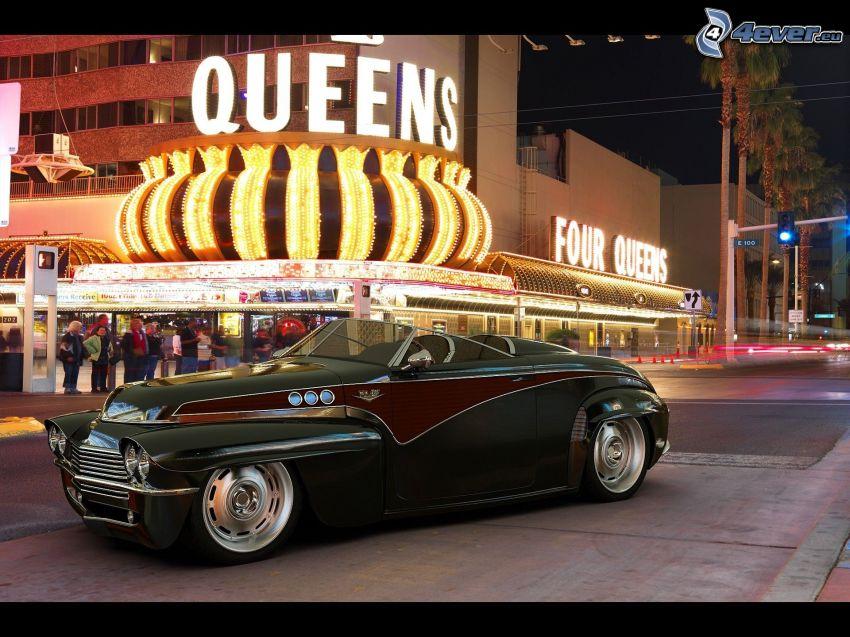 Jaguar E-Type, veteran, cabriolet, gata