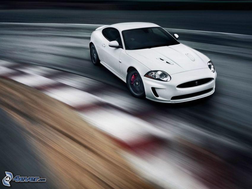 Jaguar XKR, drifting, fart