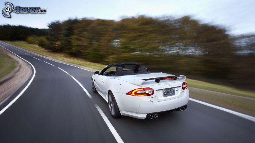 Jaguar XKR-S Convertible, väg, fart