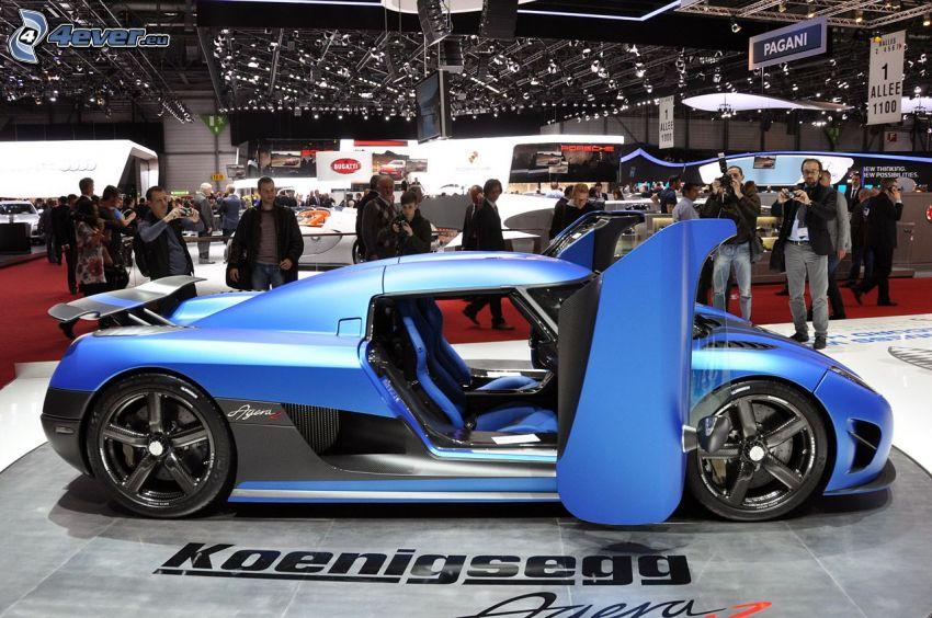 Koenigsegg Agera R, utställning, bilutställning