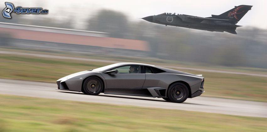 Lamborghini, jaktplan, fart